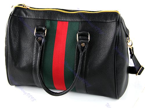 Черная сумка-саквояж